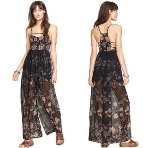 Free People Meadow Rue Floral jumpsuit size 0